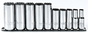 "PROTO J52107 - 10pc 3/8"" Drive 12pt Fractional Deep Socket Set"