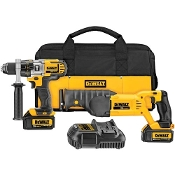 DEWALT DCK292L2 20V MAX Lith.Ion Hammerdrill/Recip Saw Combo Kit