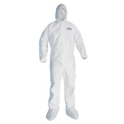 TYVEK COVERALLS W/HOOD/BOOTS 2X