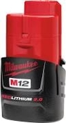 MILWAUKEE 48-11-2420 M12 RED LITHIUM 2.0AH CP BATTERY