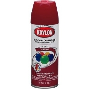 Krylon 2101 5-Ball Interior-Exterior Paint Enamel CHERRY RED