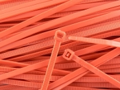 CABLE TIE 6 INCH  ORANGE (Bag of 100)