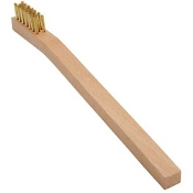 BRASS SML WIRE BRUSH WOOD HNDL