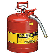 "JUSTRITE 10821 5 Gallon/19L Type 2 Safety Can, Red 1"" Hose"