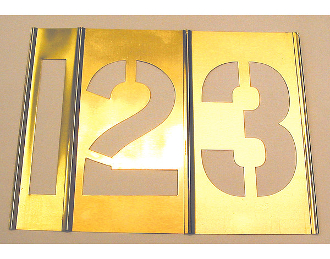 C.H. Hanson CHH10015 5 IN BRASS STENCIL- NUMBERS