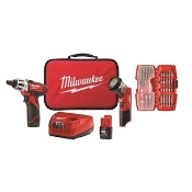 MILWAUKEE 2482-22 M12 12V Cordless Lithium-Ion 2-Tool Combo Kit