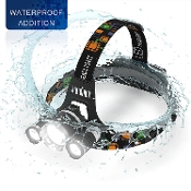6000 LUM LED HEADLAMP RECHARGEABLE