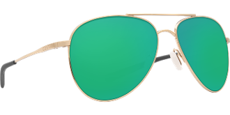 COSTA COOK GOLD W/ GREEN MIRROR LENS W580 COO126OGMGL