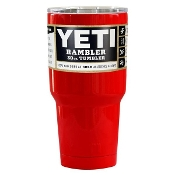 YETI RED GLOSS 30 OZ RAMBLER TUMBLER