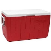 COLEMAN 48QT ICE CHEST  RED