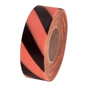 C.H. Hanson CHH17056-ORANGE FLO & BLACK STRIPED TAPE