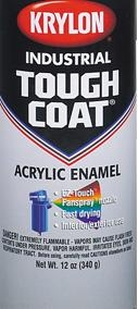Krylon 1212 Tough Coat® Acrylic Alkyd Enamel IMPLEMENT ORANGE