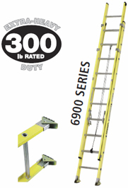 24' FIBERGLASS EXTENSION LADDER