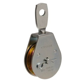 "Campbell  3"" Heavy Duty Pulley, Single Sheave, Swivel Eye, Steel"