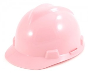 PINK HARD HAT With RATCT SUSPENSION