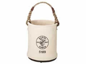 KLEIN 5109S CANVAS BUCKET W/ SNAP AND PLASTIC BOTTOM