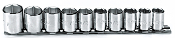 "PROTO J52122 - 10-Piece 3/8"" Drive 6-Point Socket Set"