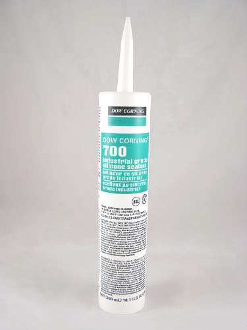 Dow Corning 700 Industrial Grade Silicone Sealant 300 mL Wht.