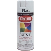 Krylon 1502 Flat white spray paint 12oz