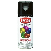 Krylon 1601 12 OZ. GLOSS BLACK INDUST PAINT - KRYLON