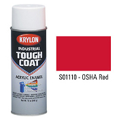Krylon S01110 Spray Paint, OSHA Red