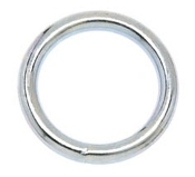 "Campbell  #7 1-1/4"" Welded Ring, Nickel Finish"
