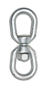 "Campbell T9630435 1/4"" Eye & Eye Swivel, Forged CS, Galvanized"