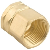 Double Female Swivel Brass Connector, 3/4-Inch by 3/4-Inc