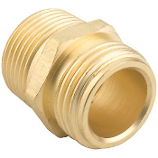 Gilmour 3/4-Inch Brass Double Male Hose Connector 7MH7MP5P
