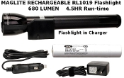 MAGLITE RL1019 LED MAG CHARGER FLASHLIGHT