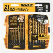 DEWALT DW1361 21PC TITANIUM DRILL BIT SET