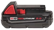 MILWAUKEE 48-11-1820 - M18 18V  LI-ION BATTERY 2.0 AHR