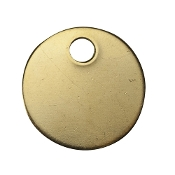 "C.H. Hanson CHH41882 2"" ROUND BRASS TAGS"