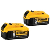 DEWALT DCB205-2 20V  LI-ION  5.0 AH BATTERY 2PK