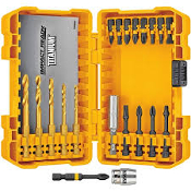 DEWALT DWA20IRTIN 20PC TITANIUM DRILL & FLEX  SET