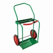 "CYLINDER CART WITH 14"" SOLID RUBBER TIRES"