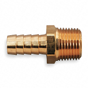 "Brass Hose Barb with Straight Fitting Style, 1/2"" 6X411"