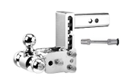 B&W Hitches TS10048C TriBall Hitch and 5/8 Chrome Receiver Hitch