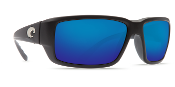 COSTA FANTAIL BLACK FRAME BLUE MIRROR GLASS LENS 580G