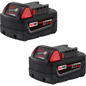 MILWAUKEE 48-11-1852 M18 VOLT  TWIN PACK 5.0AH BATTERY