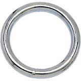 "Campbell  T7665001 #2 2"" Welded Ring, Nickel Finish"