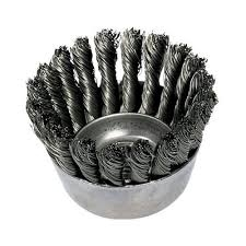 "WEILER 12736 3-1/2"" 5/8 X CUP BRUSH .014 WIRE"