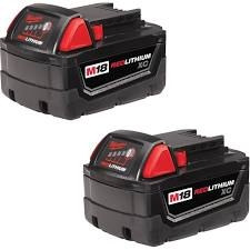 MILWAUKEE 48-11-1822 M18 (2PK) 18V REDLITHIUM BATTERY