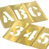 C.H. Hanson CHH10011 2 IN BRASS STENCIL- NUMBERS